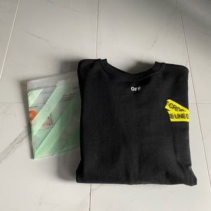 Off white firetape crewneck